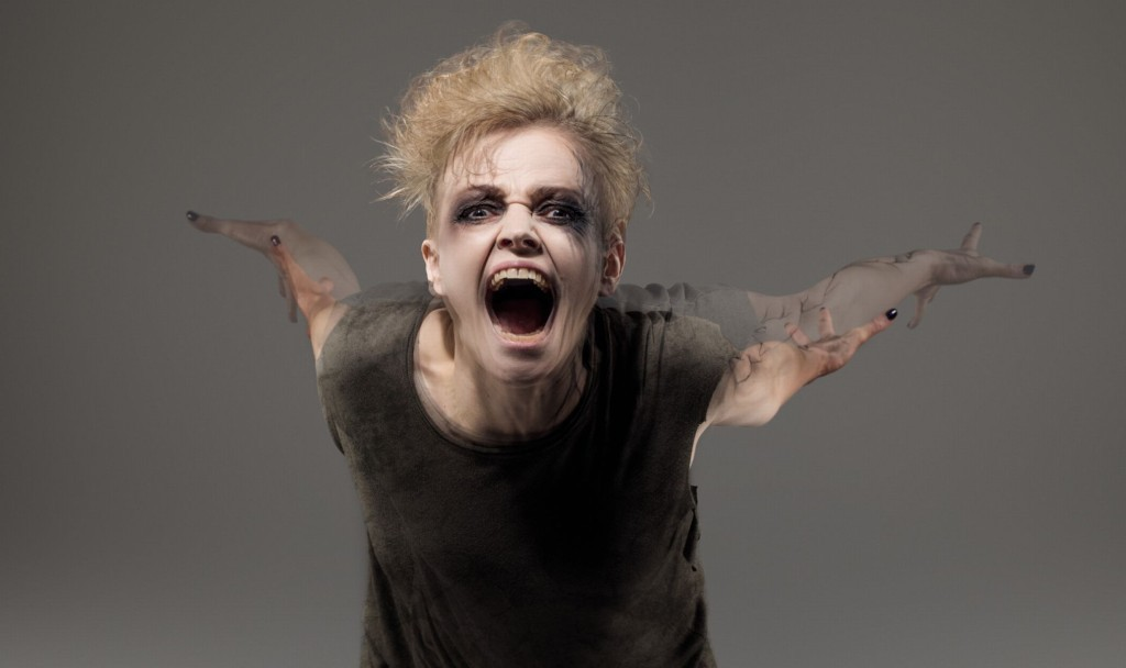 Maxine Peake in The Skriker at Royal Exchange Theatre Manchester 2015